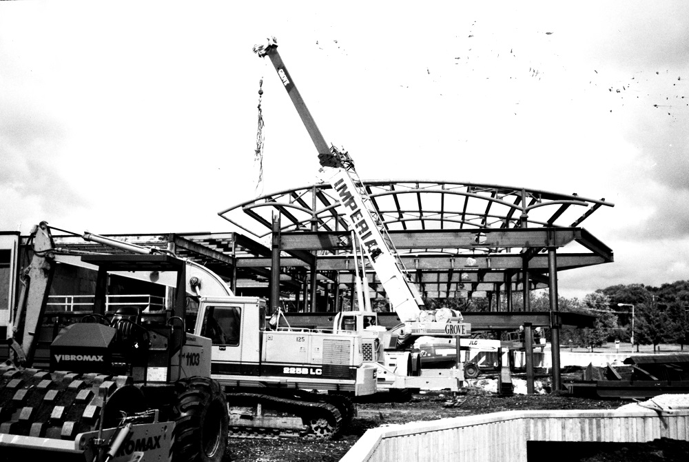 Photo of the construction to add the third floor