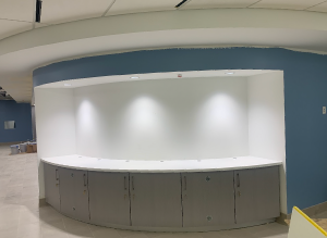 New welcome desk area