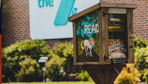 Photo of Library's Little Free Library at the YMCA