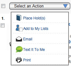 Image of select an action button