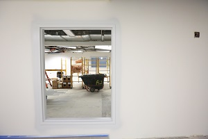 Window into the Automated Sorting Machine area